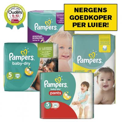 Pampers New baby, Baby dry of Active fit luiers of luierbroekjes