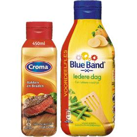Becel, Blue Band, Croma of Bertolli vloeibare margarines
