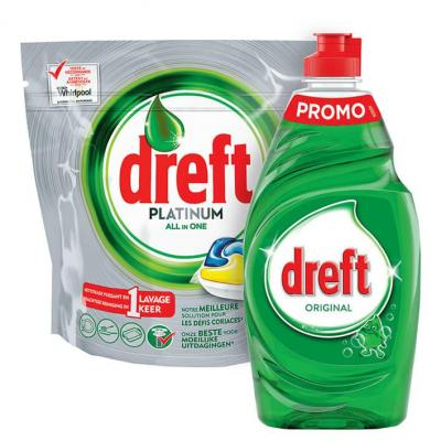 Dreft original 400 ml of Platinum all-in-one original 10 tabs