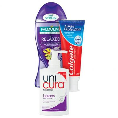 Palmolive douche 250 ml, Colgate tubes of Unicura