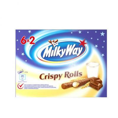 Mars, Bounty, Twix, Snickers of Milky Way crispy rolls