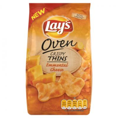 Lay's crispy thins of crunchy biscuits of duyvis pinda's