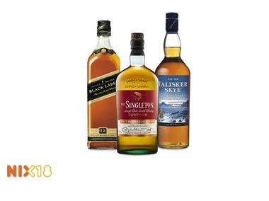 Talisker Skye, Singleton Malt Masters, Johnnie Walker Black Label of Double Black