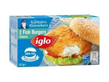 Iglo MSC Fish burgers, Crispino's of Vissticks