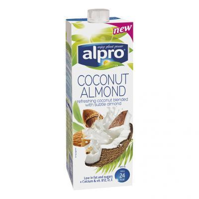 Alpro soya, almond drink of barista