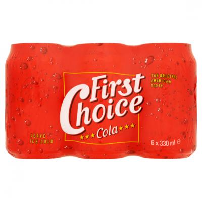 First Choice cola blik 33 cl.