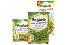 Bonduelle in ½ literblik of mini packs