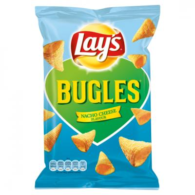 Lay's flat chips, bugles, pomtips of grills
