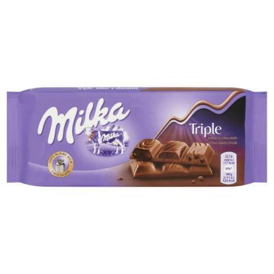 Milka chocolade tablet of reep