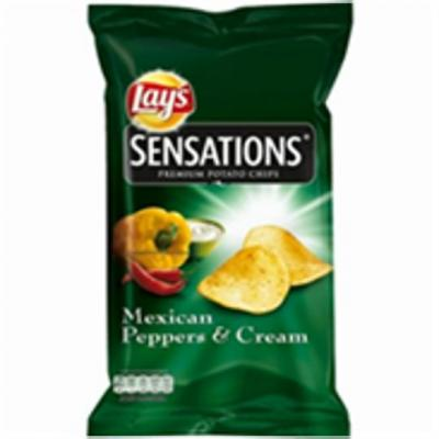 Lay's sensations mexican peppers & cream