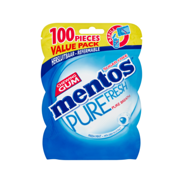 Mentos gum bottle pure fresh fresh mint