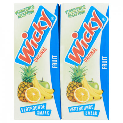 Wicky fruitdrink fruit.
