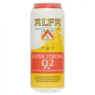 Alfa super strong. blik 50 cl