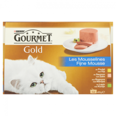 Gourmet Gold 12 pack fijne mousse