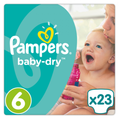 Pampers Baby dry extra large 6