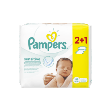 Pampers babydoekjes sensitive 3-pack