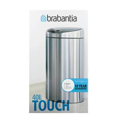 Brabantia afvalemmer metallic grey