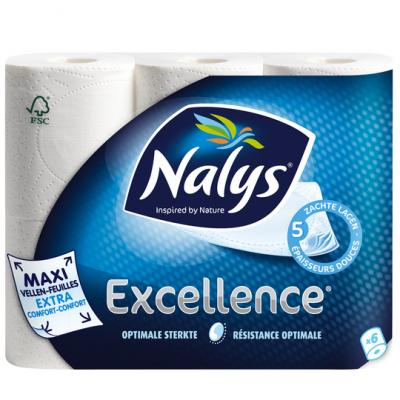 Nalys Excellence 5-laags maxi-vel toiletpapier