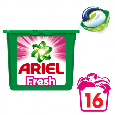 Ariel 3-in-1 pods wasmiddel capsules fresh