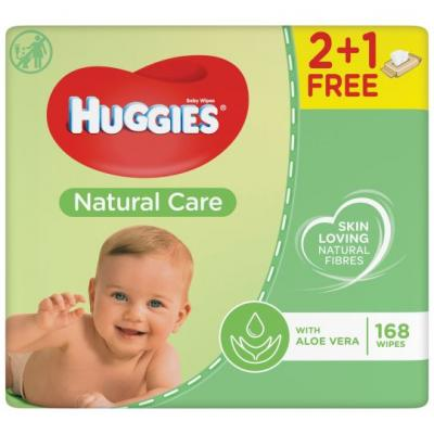 Huggies Natural care 2 plus 1 voordeel