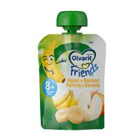 Olvarit Friends knijpzakje appel/ banaan
