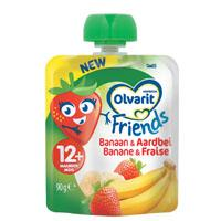Olvarit Friends fruit banaan-aardbei 12 mnd