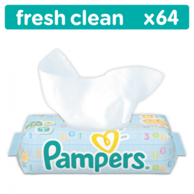 Pampers Wipes Fresh clean