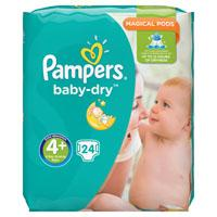 Pampers Baby dry Maxi+ maat 4+