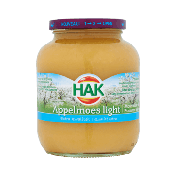 Hak Appelmoes Light Extra Kwaliteit 700g