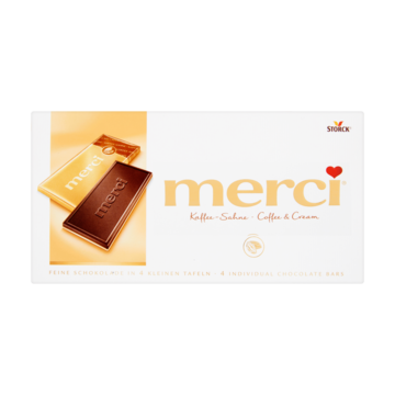 Merci Chocolade Tablet Coffee & Cream 100g