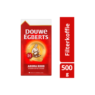 Douwe Egberts Aroma Rood Koffie Snelfiltermaling 500g