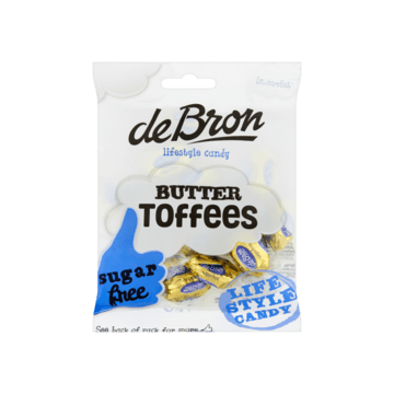 De Bron Butter Toffees Sugarfree 70g