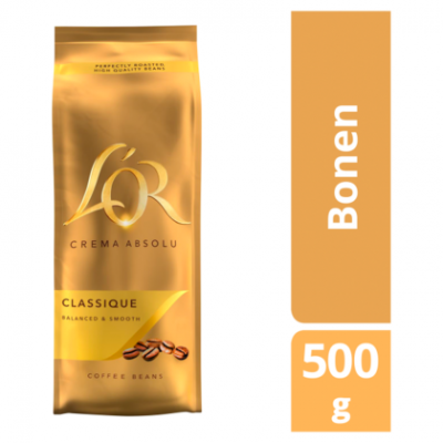 L'OR Crema Absolu Classique Coffee Beans 500g