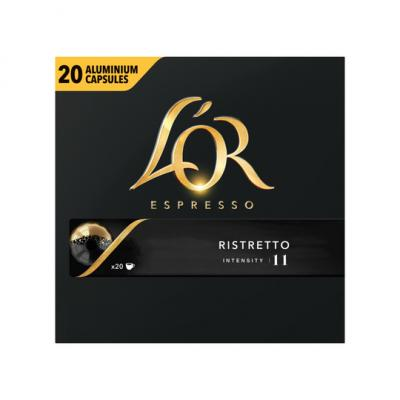 L'OR ESPRESSO Ristretto Koffiecapsules Grootverpakking 20 Stuks