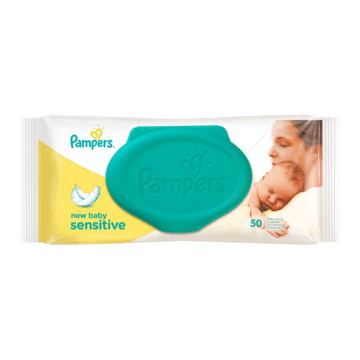 Pampers New Baby Sensitive Babydoekjes Enkelpak 50 Doekjes