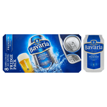 Bavaria Premium Pilsener Fridge Pack Blikken 8 x 33cl