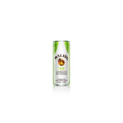 Malibu Pear Caribbean Rum with Coconut & Fruit Flavours 250ml