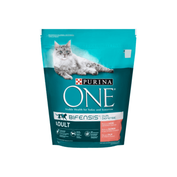 Purina ONE Bifensis Dual Defense Adult Zalm 800g