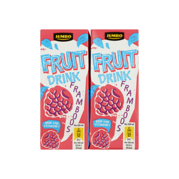 Jumbo Fruit Drink Framboos 10 x 200ml