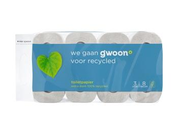 G'woon Toiletpapier 3 laags recycled