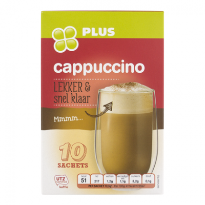 PLUS Cappuccino portion pack