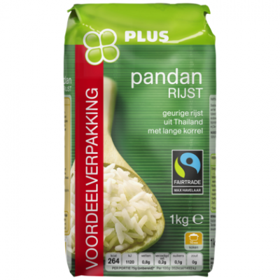 PLUS Pandan rijst fairtrade