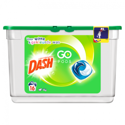 Dash Wascapsules Go Pods Regular 16wasb
