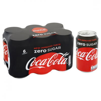 Coca-Cola Zero sugar blik 33 cl. 6-pack