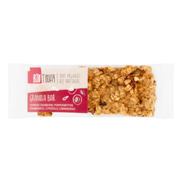 Bio Today Granola Bar Pompoenpitten Cranberries