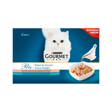Purina Gourmet Perle Sauce Delight 4-pack met Zalm of Tonijn 4 x 85g