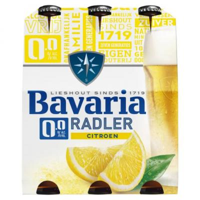 Bavaria 0.0 Radler Lemon Fles 6 x 30cl