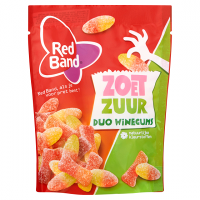 Red Band Duo winegums zoet 225 gram