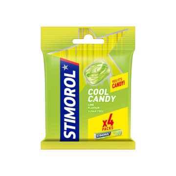 Stimorol Cool Candy Lime Flavour Sugar Free 4 x 32g