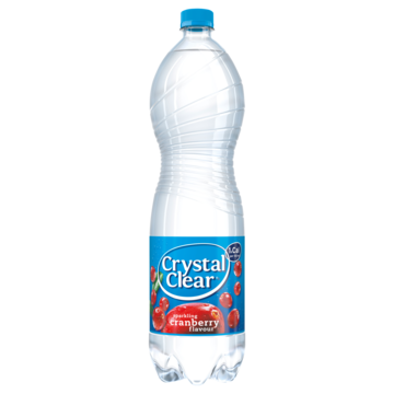Crystal Clear Sparkling Cranberry Smaak 1, 5L